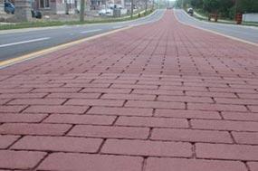 Street print combina la flexibilidad y resistencia del asfalto con tecnologías punteras de texturado de pavimento.