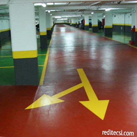 Tipos de suelos para garajes latest ejemplo de sistema de - Pinturas para garajes ...