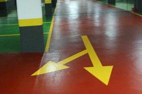 Ejemplo de sistema de pavimento continuo a base de resinas epoxi, poliuretano o metacrilato en mínimos espesores para pintar su garaje